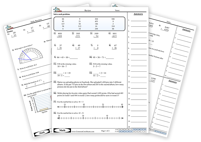 Commoncoresheets.com is a great resource for math teachers. It gives ...