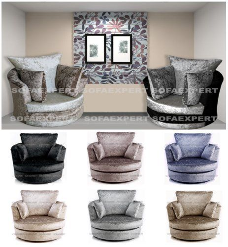 Phenomenal Dylan Crush Velvet Fabric Swivel 360 Rotate Cuddle Chair Tub Forskolin Free Trial Chair Design Images Forskolin Free Trialorg