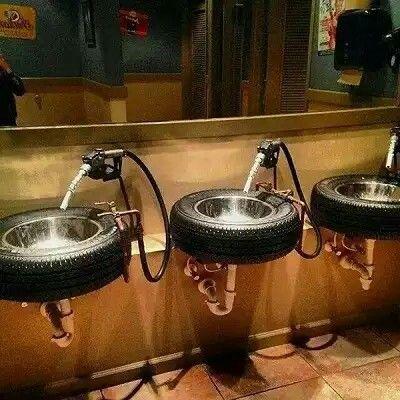 Un baño muy masculino