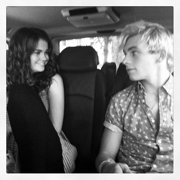 """Ross Lynch And Maia Mitchell Press For """"Teen Beach Movie"""" July 6, 2013"""