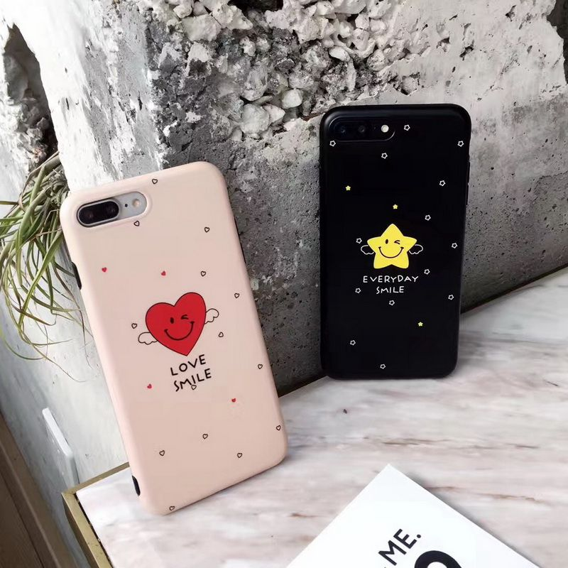 >> Click to Buy << New Cute Smile Heart Star Phone Cases for iPhone 7 7 Plus 6 6s 6Plus 6sPlus Soft TPU Couple Funda Back Shell Cover #Affiliate