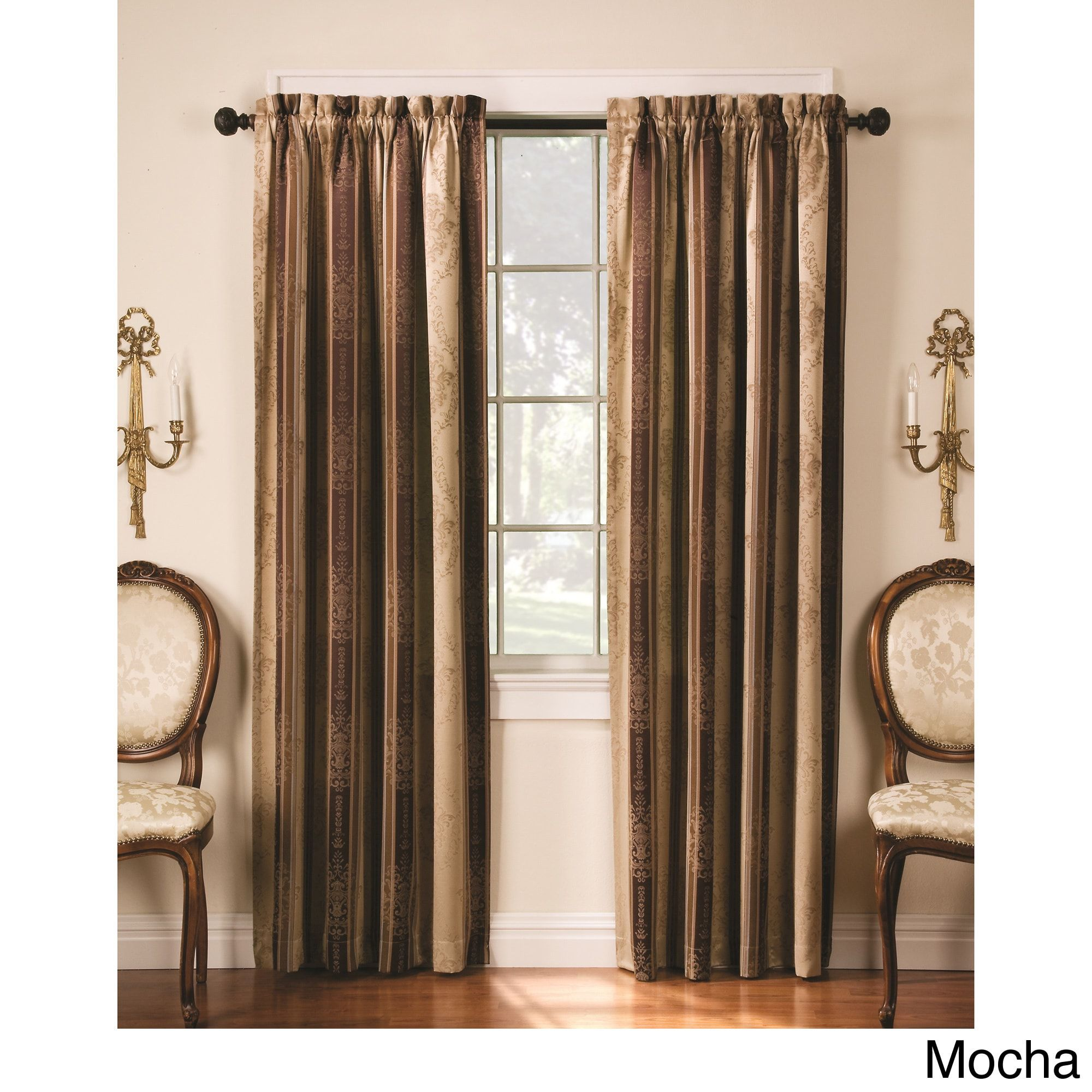 Tuscan thermal backed blackout curtain panel pair overstock