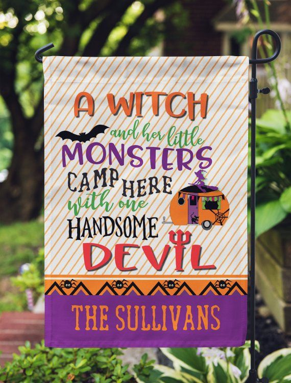 Camping Flag Personalized - Halloween Flag - Gift for Camper