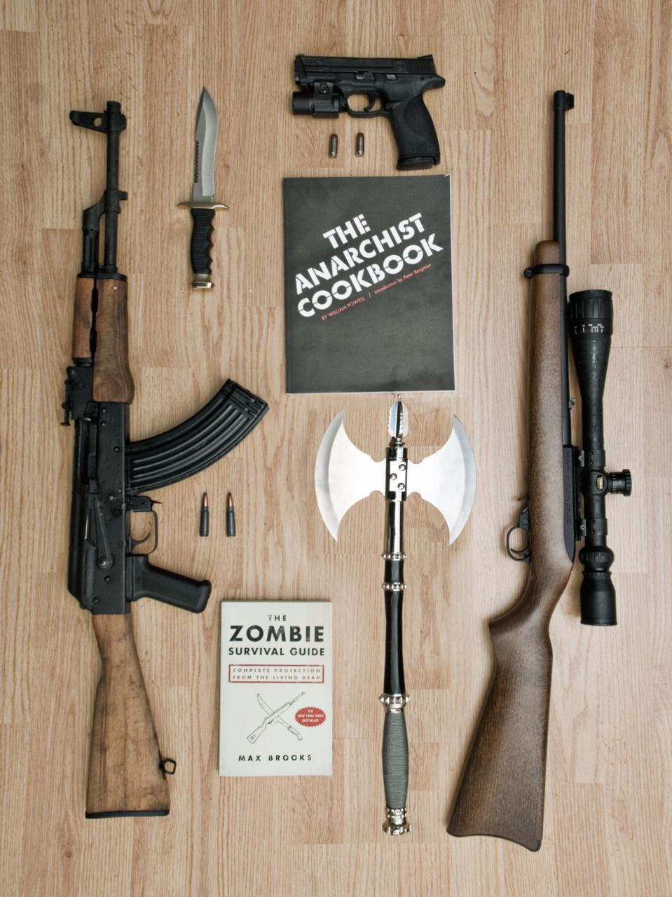 zombie apocalypse survival kit - without guns, but i like ...