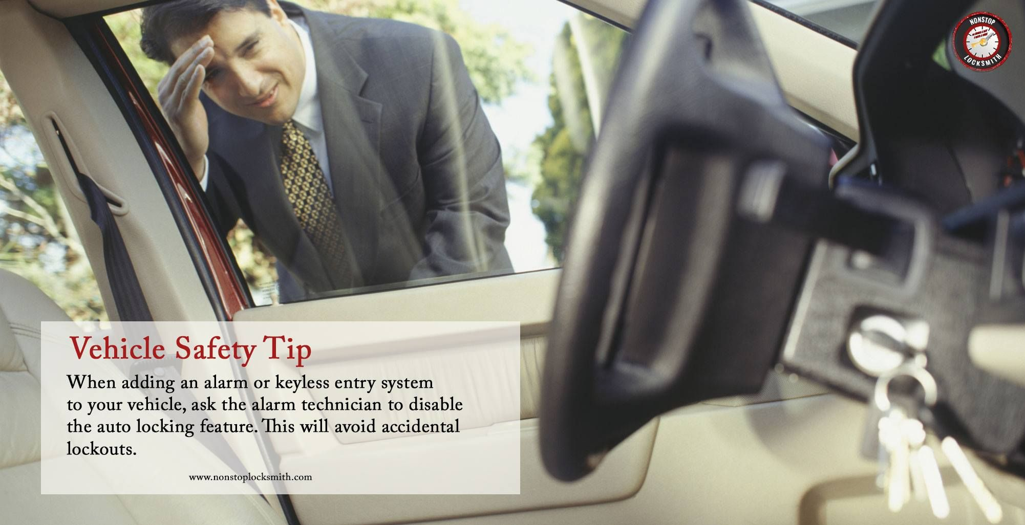 Locksmith tip of the week vehicle safety tip chicago safety