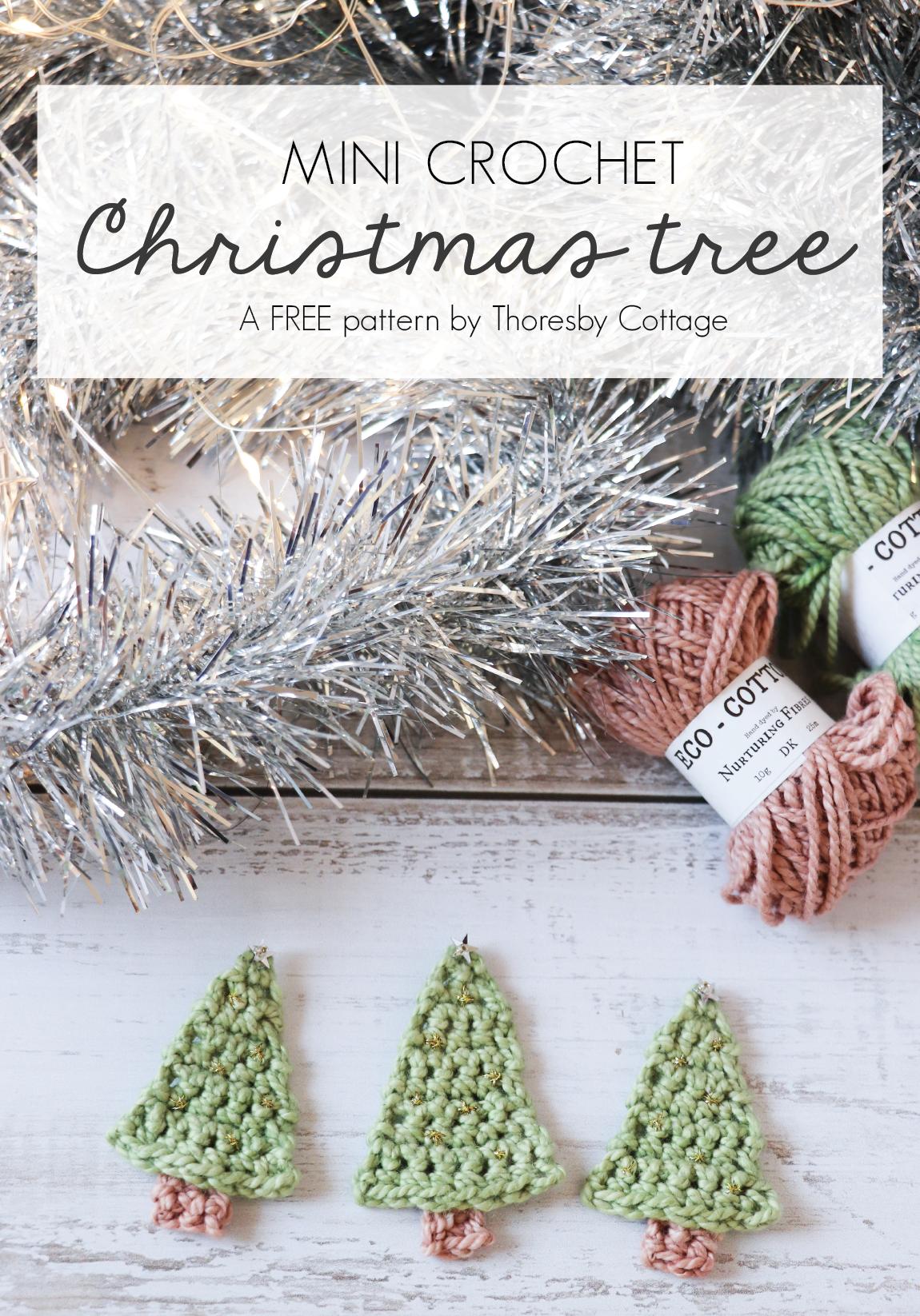 Mini Crochet Christmas Tree Free Pattern Thoresby Cottage Crochet Christmas Trees Ornaments Crochet Christmas Trees Free Crochet Xmas