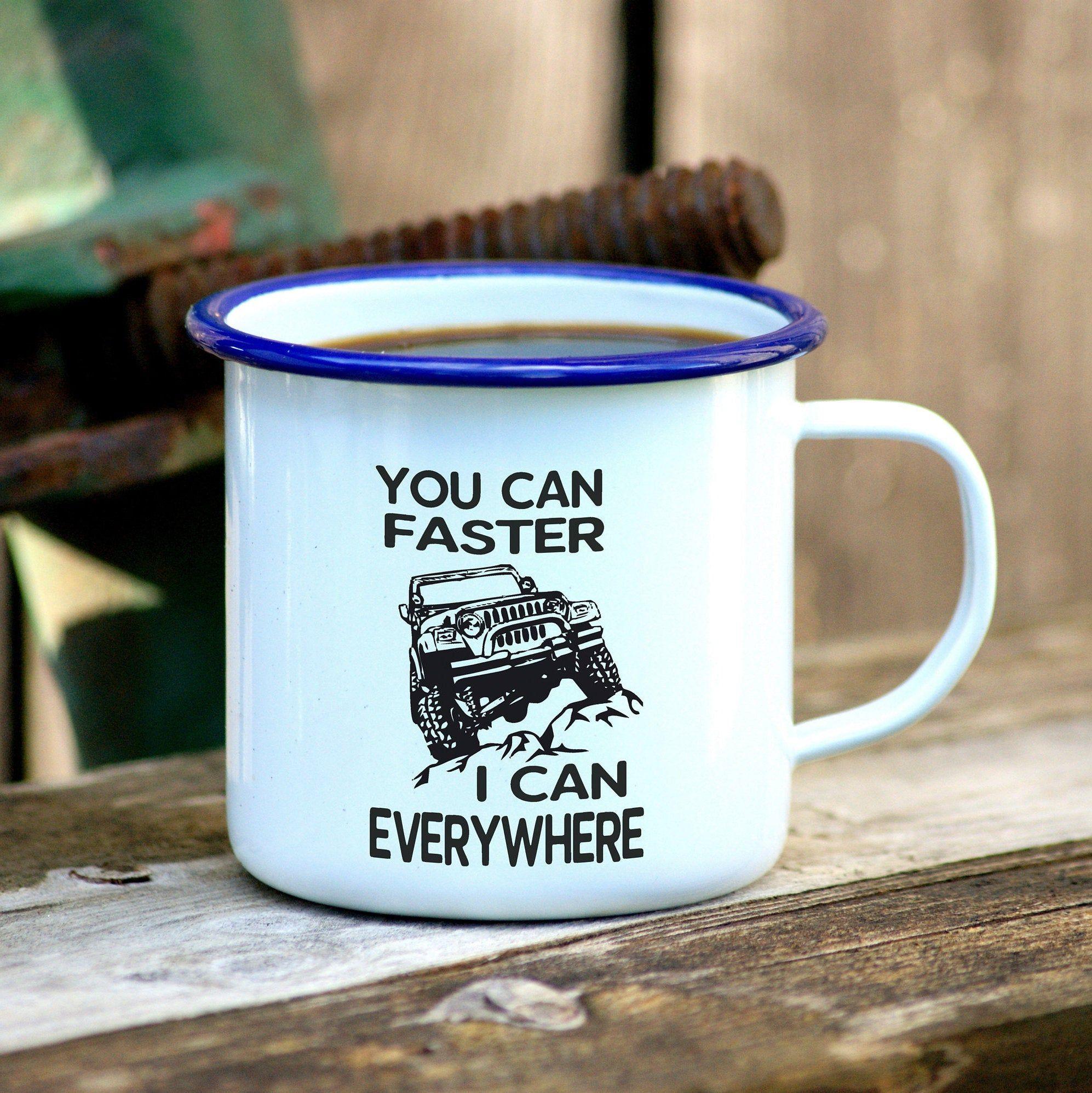 Offroad Mug, Jeep Gifts, Jeep Lover, Enamel Mug, Off Road