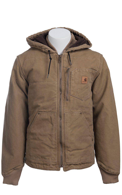 Carhartt® Frontier Brown Fleece Lined Sandstone Chapman Jacket | Outerwear | Pinterest ...