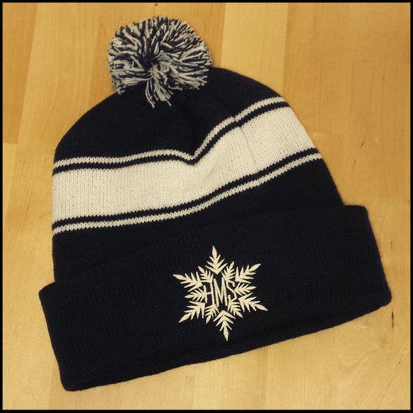 Heart Hart Mind Soul Snowflake Beanie Hat Custom Embroidery Custom Embroidery Screen Printing Winter Hats