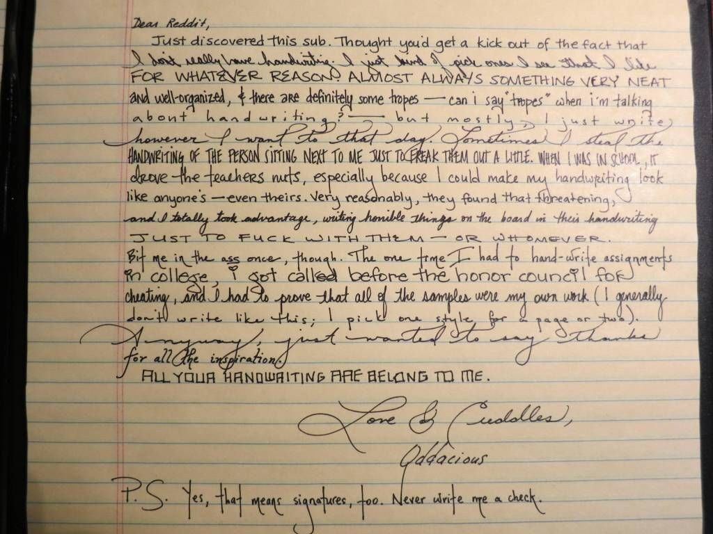 How To Change Your Handwriting Tips From Study Hack