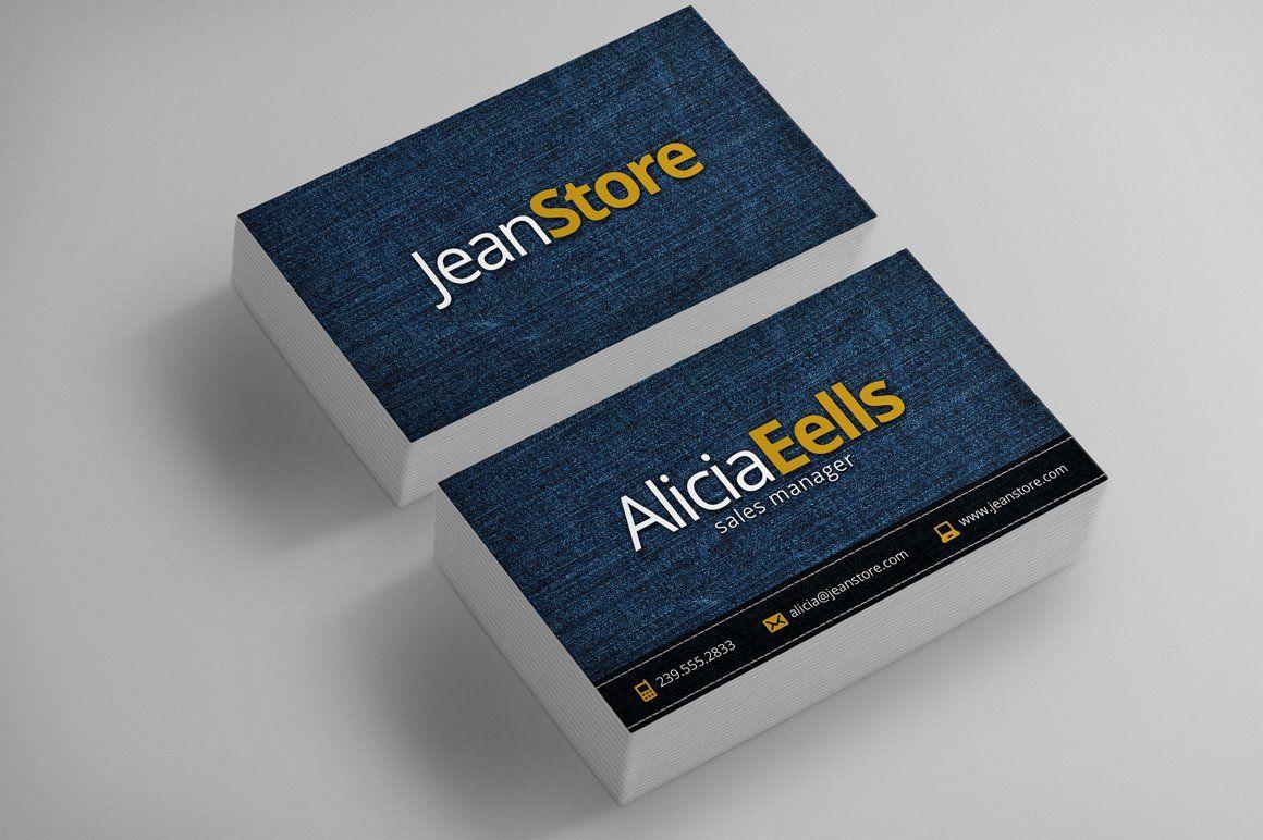 Denim Business Card Business Cards Creative Templates Business Card Photoshop Business Card Dimensions