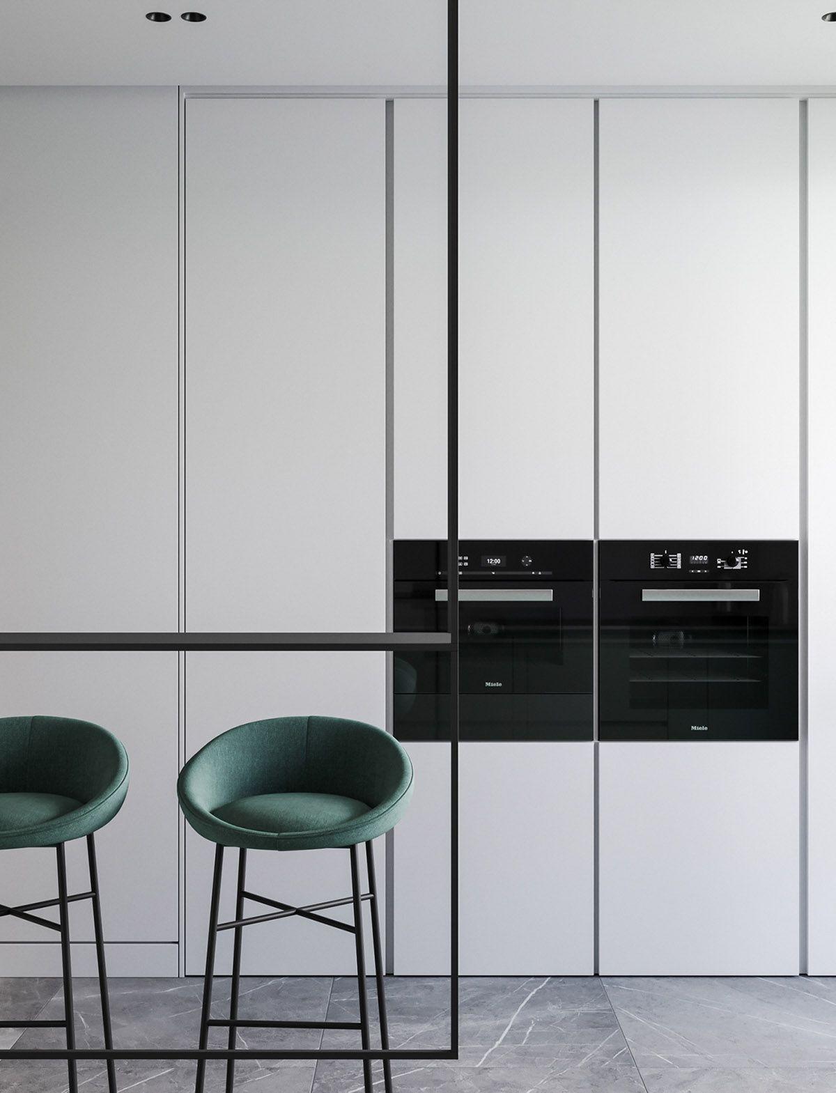 Photo of Moderne minimalistische Apartment-Designs unter 75 Quadratmetern