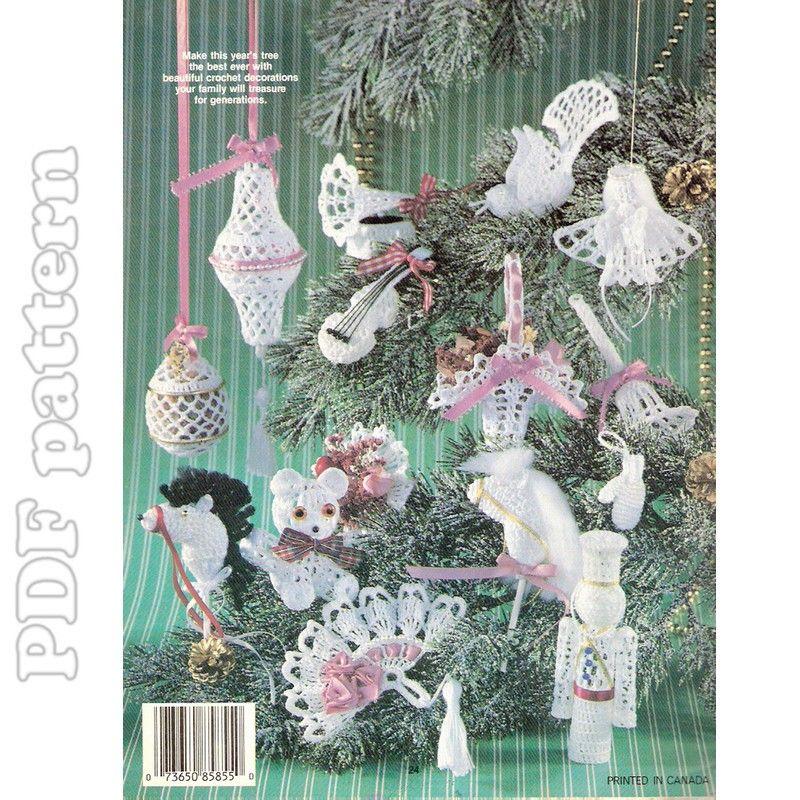 Victorian Christmas Decorations: Victorian Ornaments Crochet Pattern PDF