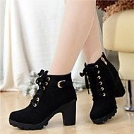 AILAIKE® Women's Short Boot Thick Heels Wild Blac... – USD $ 15.90