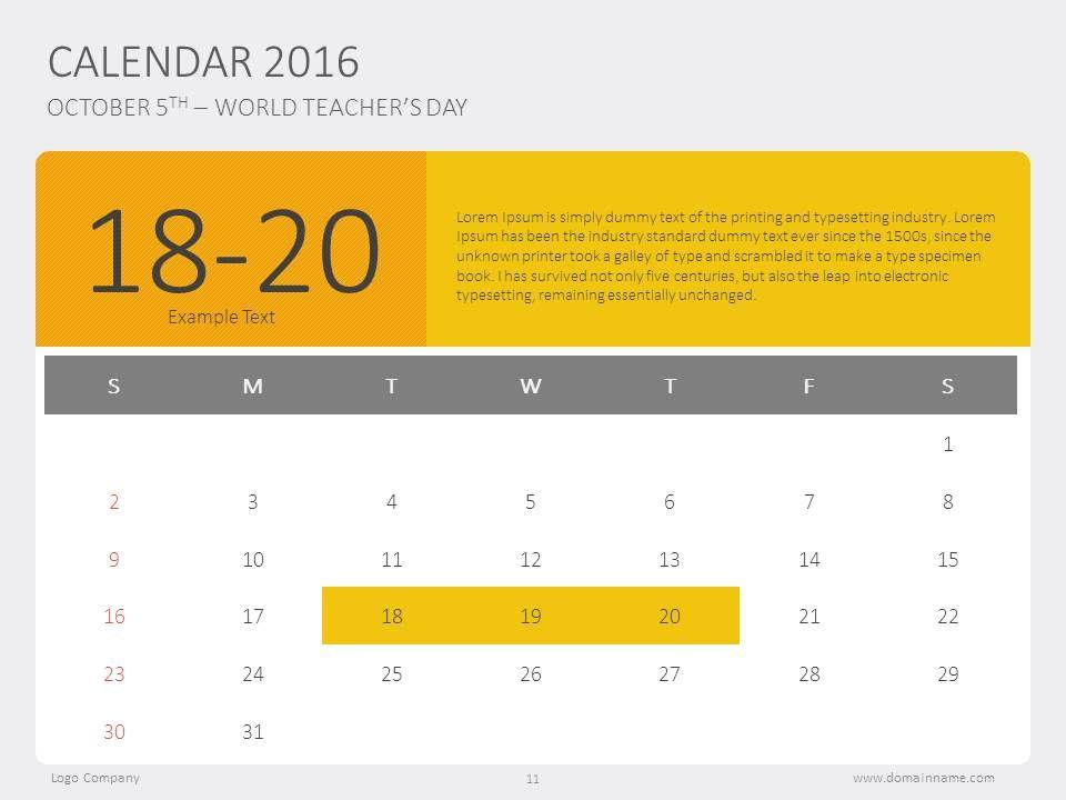 Timeline calendar design template #presentation #powerpoint