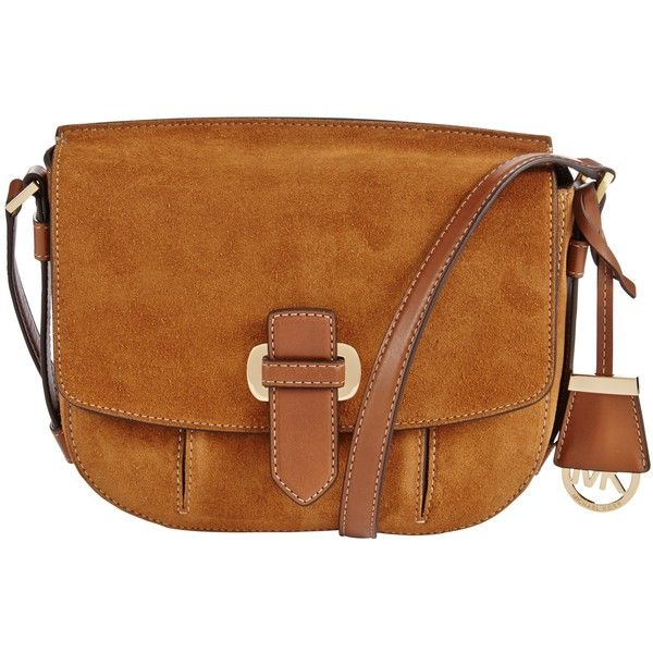 45c4378b539c MICHAEL Michael Kors Romy Medium Suede Messenger Bag, Dark Brown (3 435  SEK) ❤ liked on Polyvore featuring bags, messenger bags, crossbody  messenger bag, ...