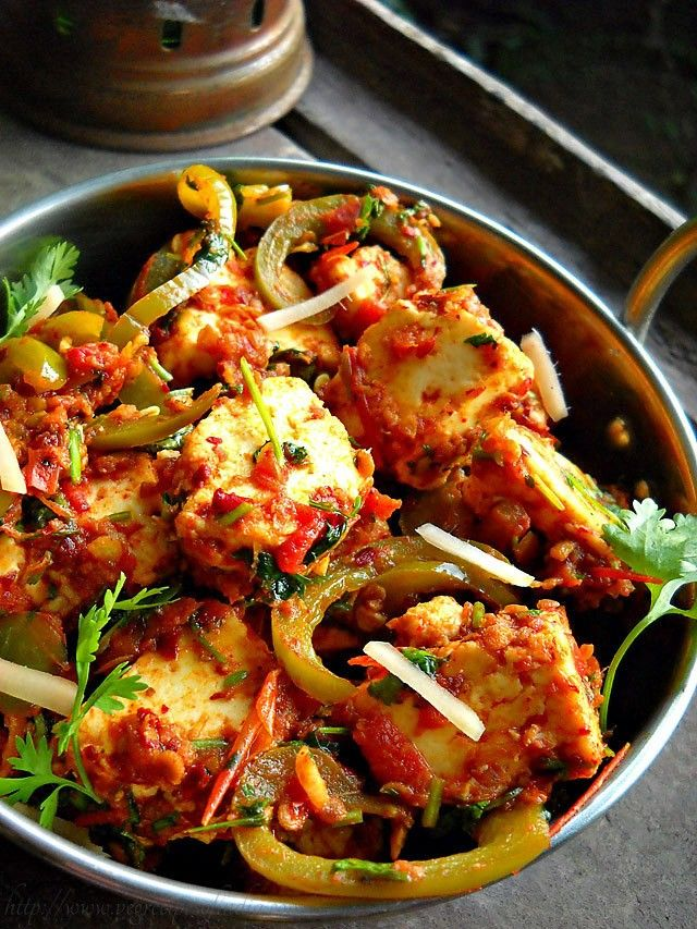 kadai paneer recipe restaurant style how to make kadai paneer recipe paneer recipes indian on hebbar s kitchen kadai paneer id=36085