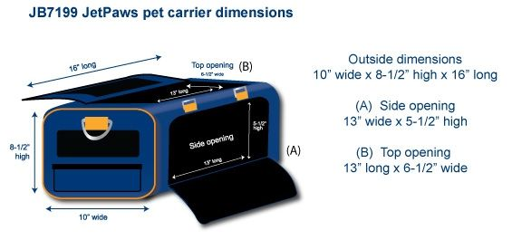 JetPaws Airline Approved Dog Carrier for JetBlue Airlines