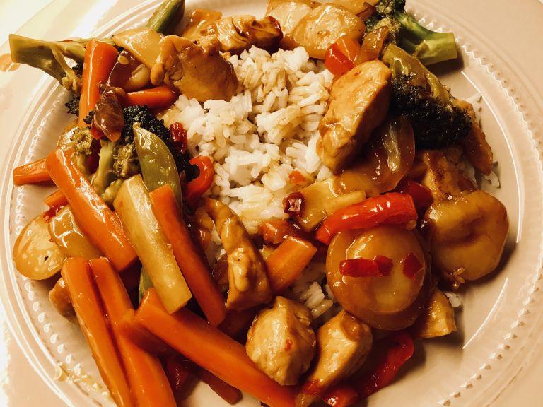 kyllingwok i sursøt saus med bilder  mat brokkoli