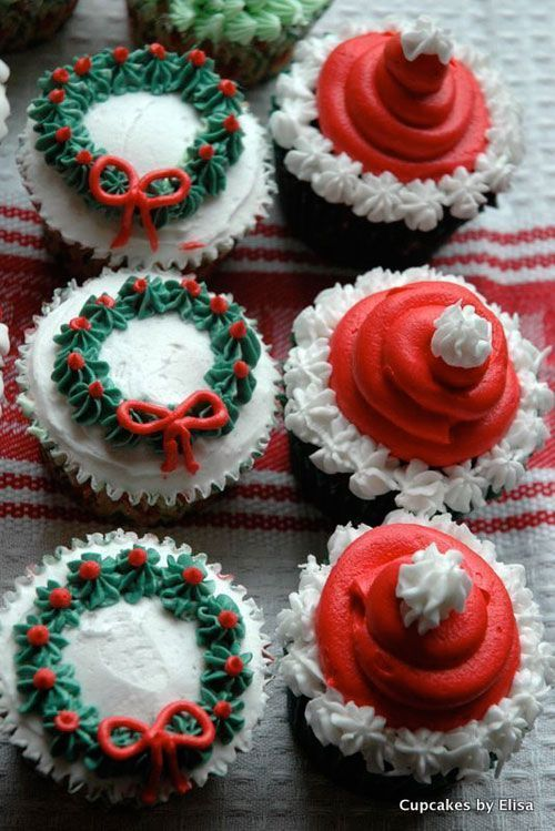 easy decorating ideas for christmas cupcakes