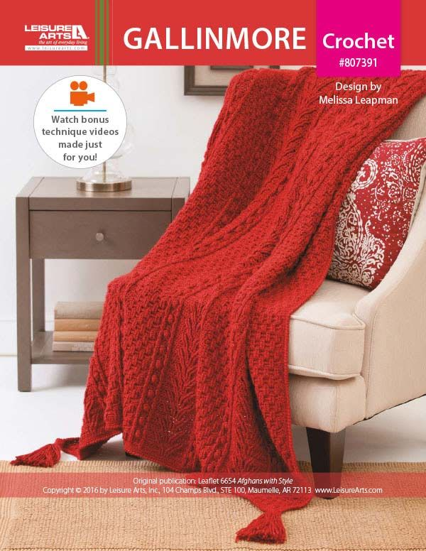 How to Crochet the Snuggle Super Fresh Red Afghan Pattern