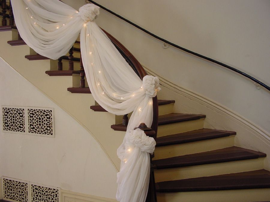 Double staircases decorated for christmas | Washington County, MN - Official Website - Wedding Planning Photos