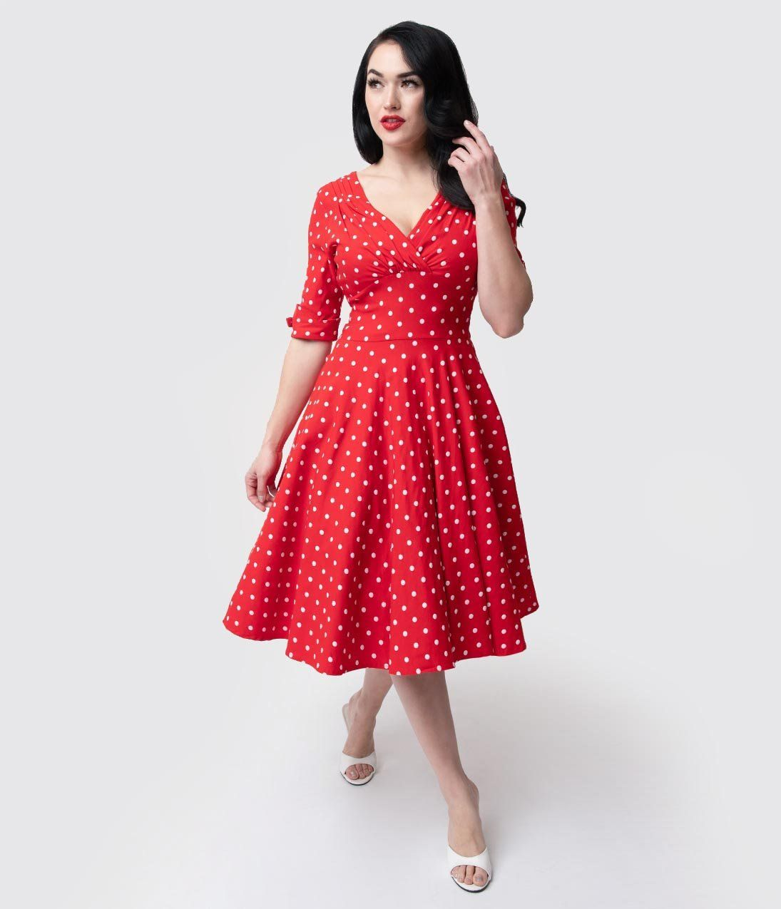 Vintage Polka Dot Dresses 50s Spotty And Ditsy Prints Vintage Dresses Online Vintage Polka Dot Dress Fifties Dress [ 1275 x 1095 Pixel ]