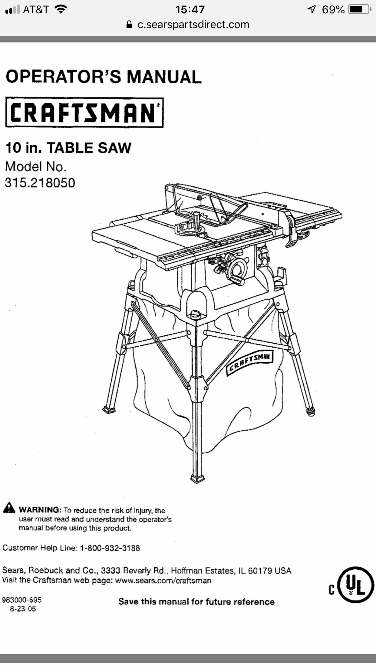 Craftsman 10 Portable Table Saw 315 218050 Portable Table Saw Table Saw Craftsman