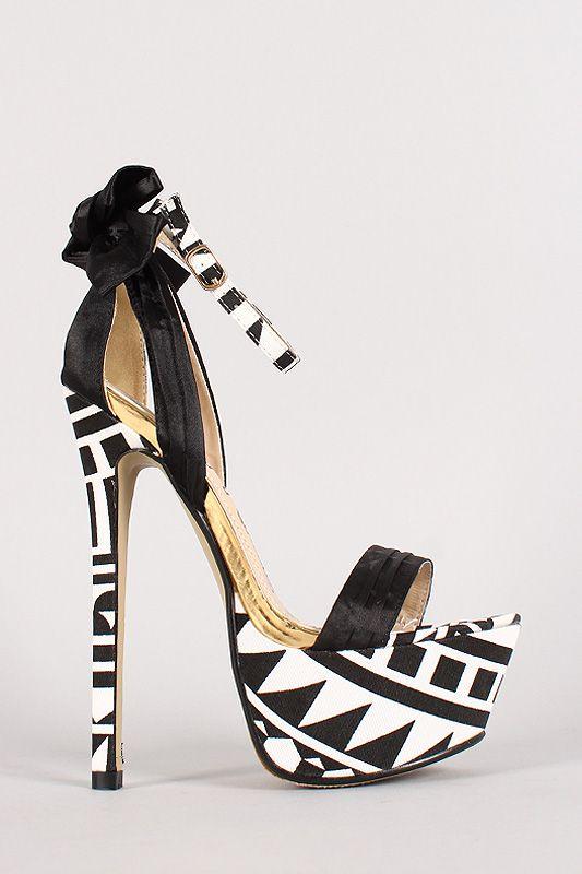 Paris Pleated Bow Open toe Stiletto Platform Heel #Urbanog