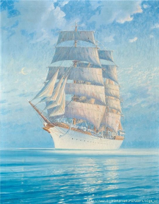 С днем рождения мужчине картинки красивые анимация корабли под парусами, прикольными высказываниями про