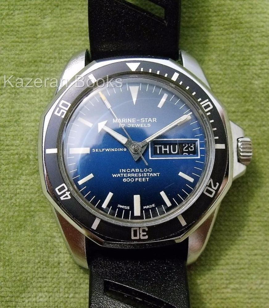 Good Vintage Mans Watch Sicura Marine Star Divers Wristwatch Breitling Working