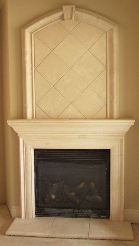 Memphis Cast Stone Fireplace with Overmantel | Fireplaces http://www ...