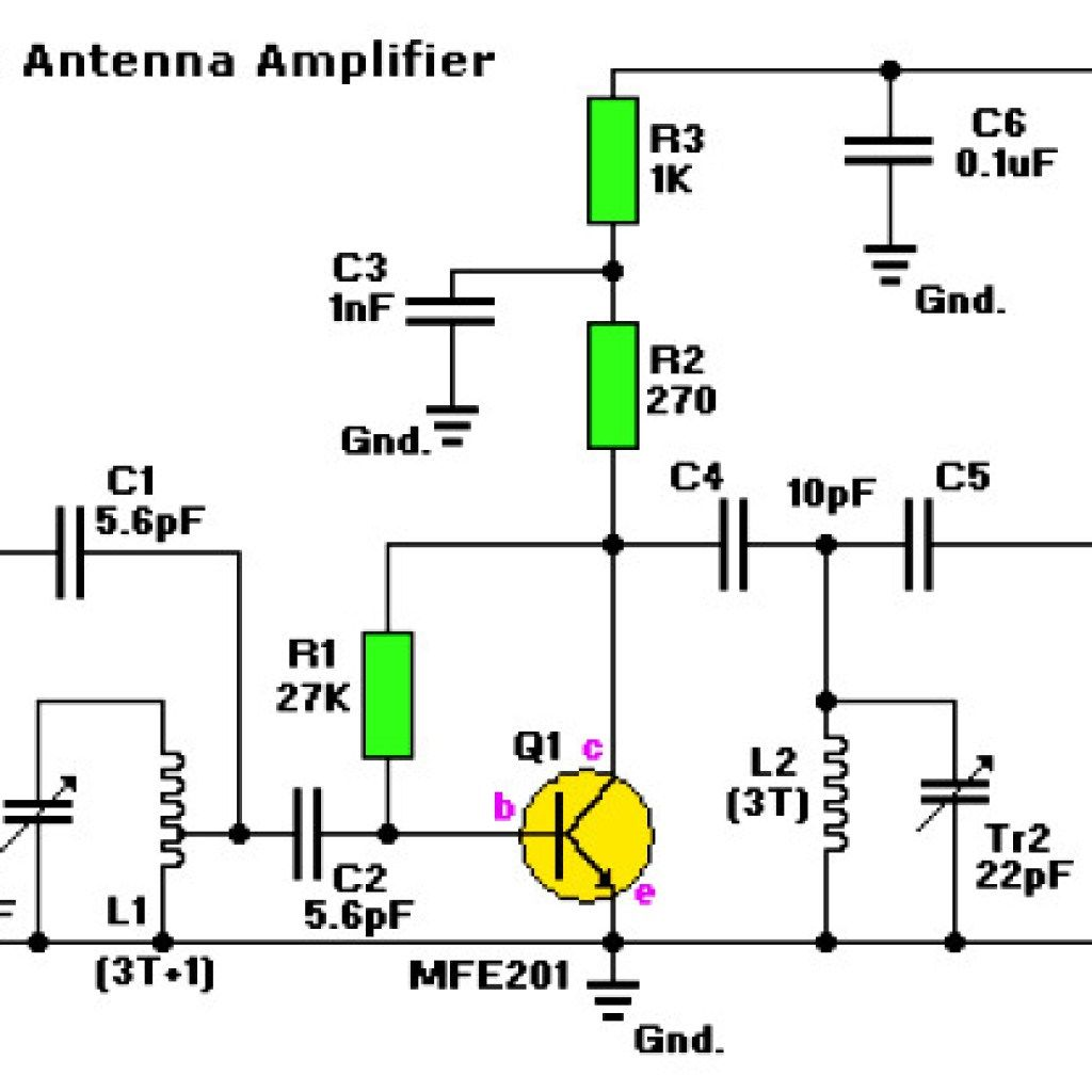 hight resolution of fm radio active antenna amplifier circuit