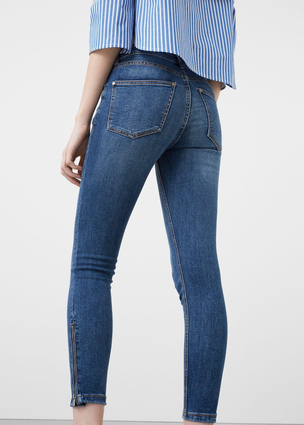 d9b74a5f6d1 Jeans skinny crop tattoo - Mujer   Basics   Pantalones de chicos ...