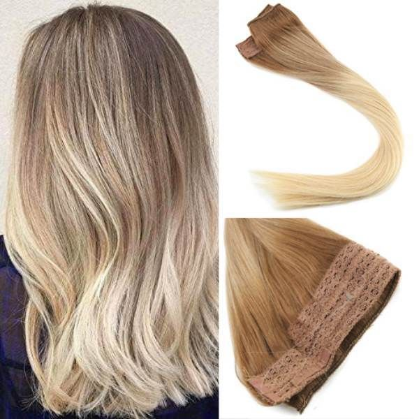 Flip In Human Hair Extensions No Clip No Glue Silky Straight
