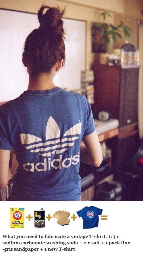 How To Make A Stiff T Shirt Look And Feel Vintage Diy Fashion Vintage Tshirts Diy Clothes