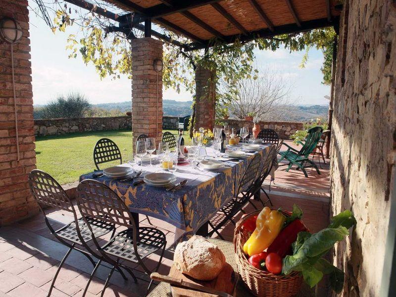 Outdoor Dining Table Porch Italian Farmhouse Plans