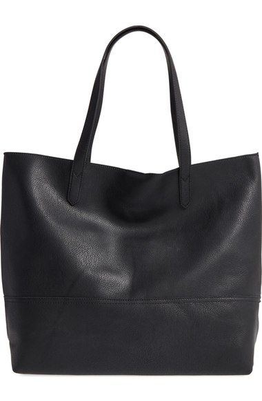 Sole Society Oversize Faux Leather Shopper available at  Nordstrom ... ca39a03213f31