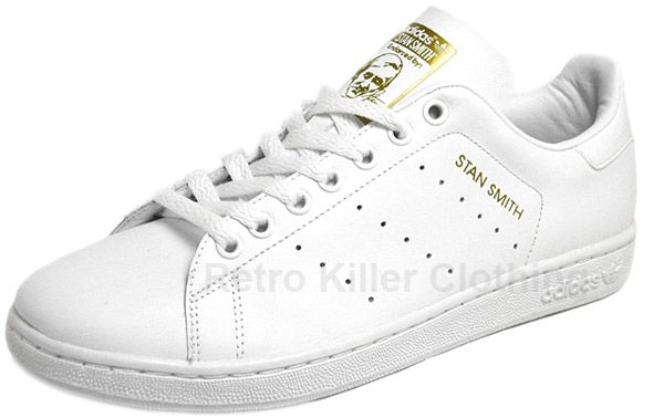adidas originals stan smith 1 lg white gold retro trainers