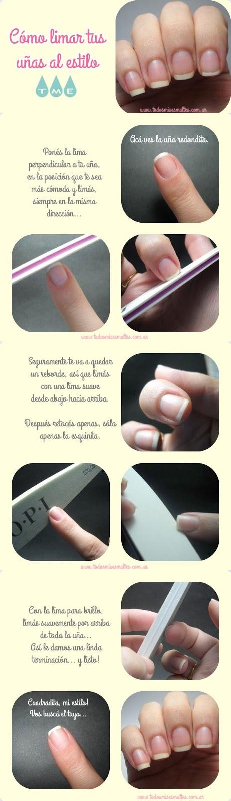 Cómo Limar Tus Uñas Uñas Uñas Manicura De Uñas Y Como