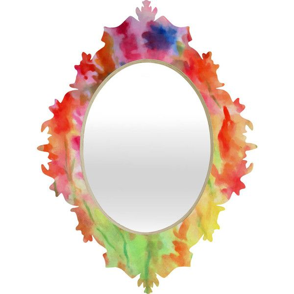 Rosie Brown Gladiolus Baroque Mirror | DENY Designs Home Accessories ($99) via Polyvore