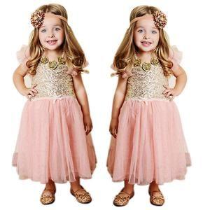 Bling Toddler Girls Princess Clothes Baby Kids Sequins Party Wedding Tutu Dress www.tresjolie.shop