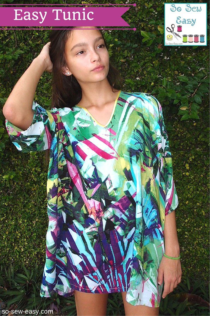 Easy Tunic FREE Pattern: Great First Garment Project | Tunics, Easy ...