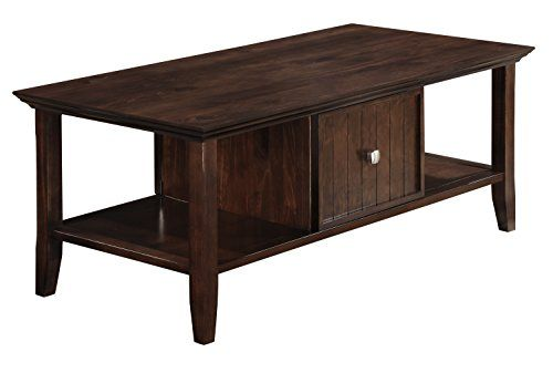 Amazon Com Simpli Home Acadian Coffee Table Rich Tobacco Brown Sofa Tables Simpli Home Coffee Table Chairs For Sale