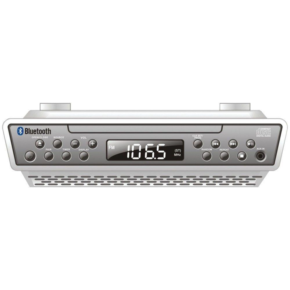 Sylvania Under-counter Bluetooth Cd Clock Radio