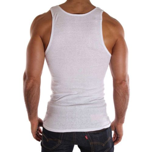 fa8cbc2433cb6b Top-Quality-100-Premium-Cotton-Mens-A-Shirt-Wife-Beater-Ribbed ...