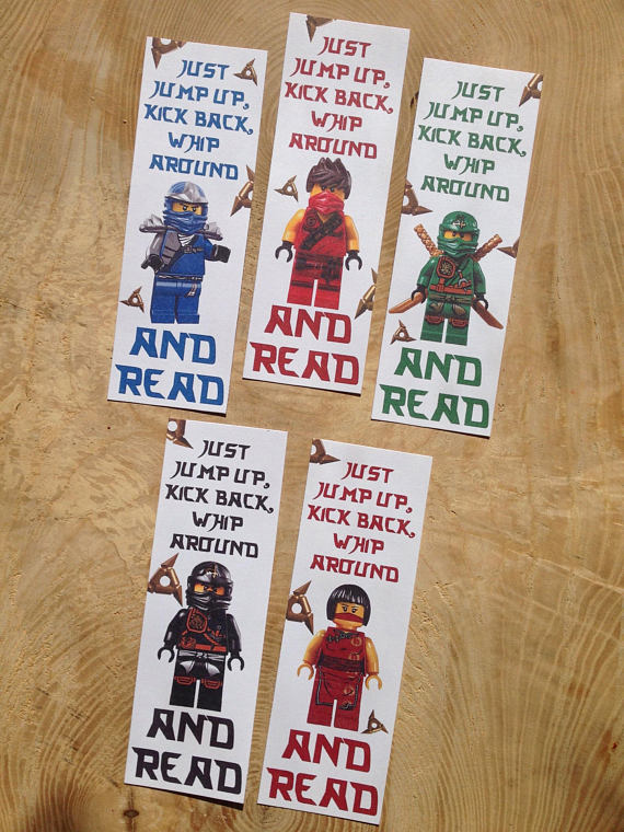 Ninjago, lego, bookmarks, instant download, printable ...