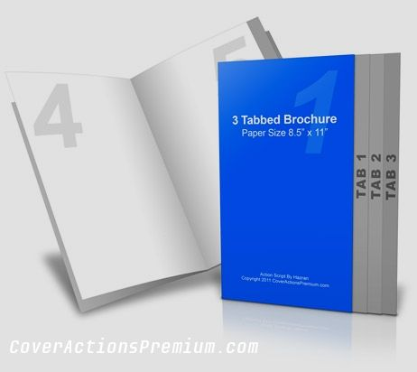 X  Inches Page Graduated Fold Mockup  Photoshop Cover