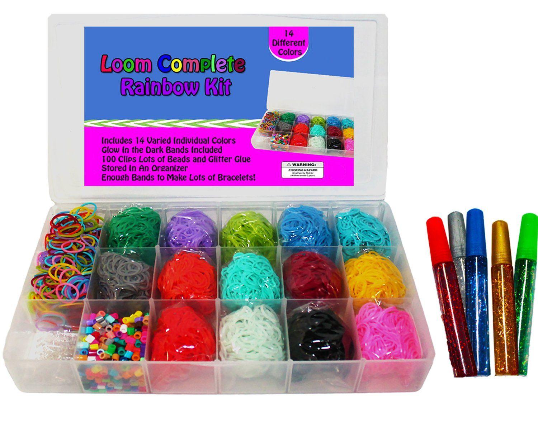 Amazon.com: Loom Rainbow Rubber Band Complete Collection ... Rainbow Loom Kit Amazon