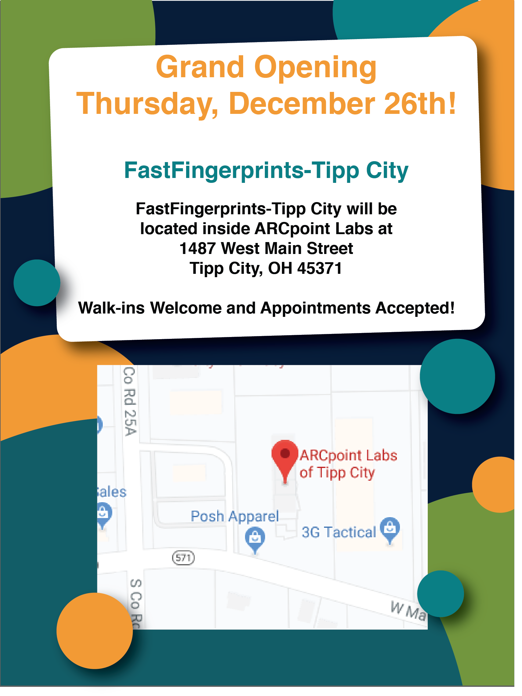 Grand Opening Dec 26th Background Check Live Scan Fingerprinting Free To Use Images
